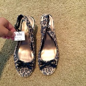 Monterey Bay Club Cheetah Print Wedges